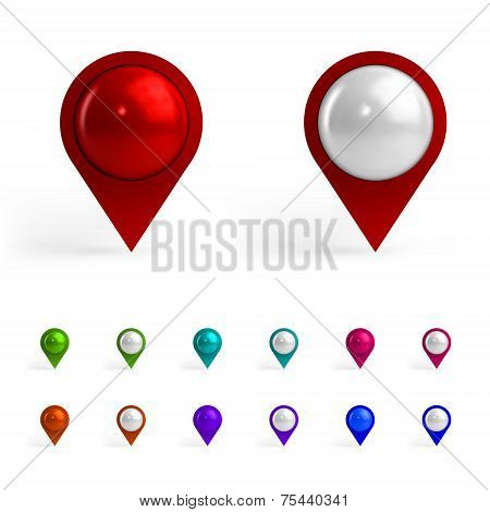 Colorful Map Tags
