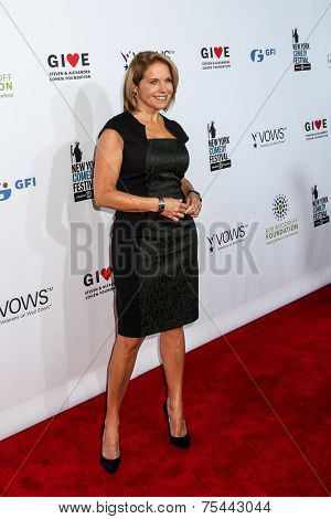 NEW YORK, NY - NOVEMBER 05: Katie Couric attends the 2014 Stand Up For Heroes at Madison Square Garden on November 5, 2014 in New York City.