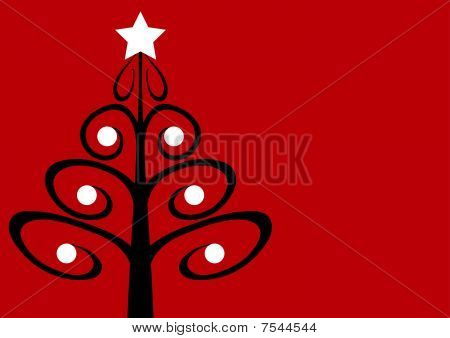 Contemporary Christmas Tree With Baubles