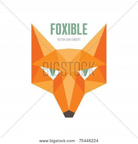 Foxible - vector logo concept