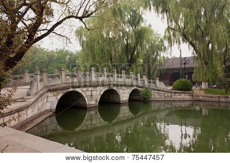 Three-arch Bridge On Campus Of Peking University, Beijing