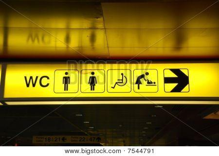 Signo de inodoros