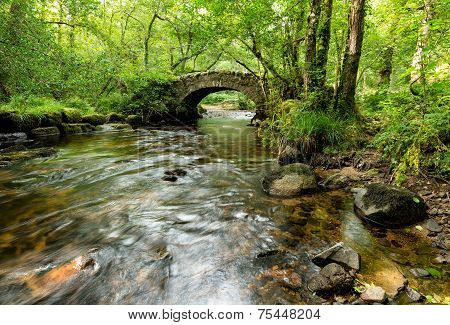 Hisley Bridge On Dartmoor