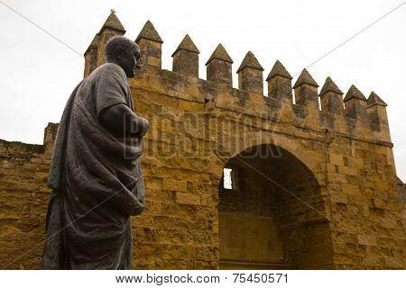 Seneca Close To Cordoba Wall, Spain