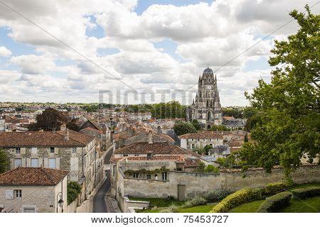 City Of Saintes With Church