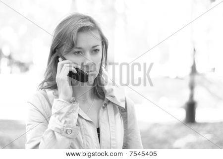 Female calling by phone