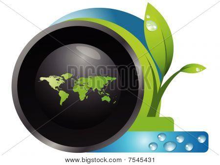 botón de plántula y web