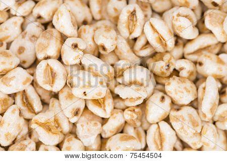 Puffed Wheat Background