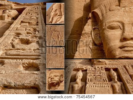Collage of Abu-Simbel images