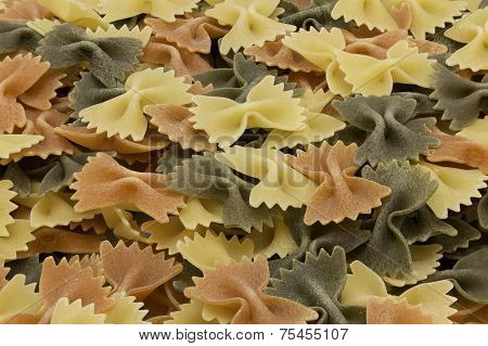 Italian Tri-colored Raw Farfalle