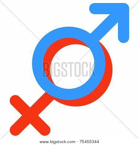 Gender symbol of Venus and Mars.