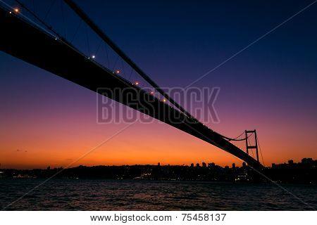 Sunset Above Bosporus Bridge
