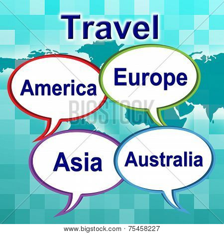 Travel Words Shows Traveller Travelled And Travels