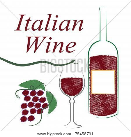 Italian Wine Shows Alcoholic Drink And Booze