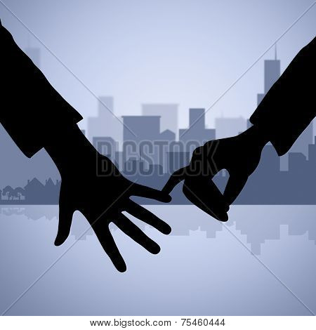 Holding Hands Represents Find Love And Affection