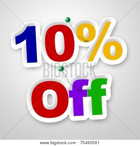 Ten Percent Off Means Promo Retail And Merchandise