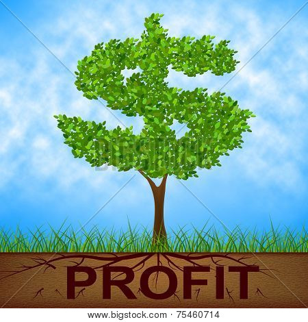 Profit Tree Shows United States And Banking