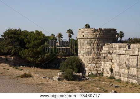 Castle In Kos City; Greece
