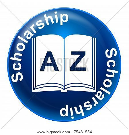 Scholarship Badge Represents Degree College And Student