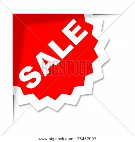 Sale Label Represents Clearance Savings And Sales