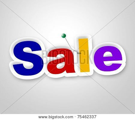 Sale Sign Represents Clearance Discounts And Promotion