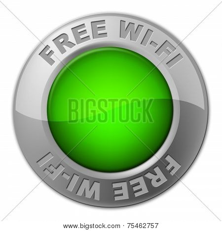 Free Wifi Button Shows With Our Compliments And Access