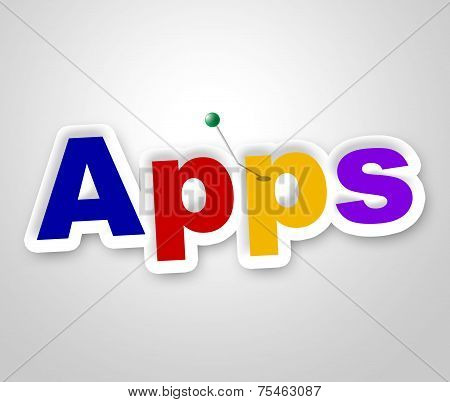 Apps Sign Shows Computing Program And Web