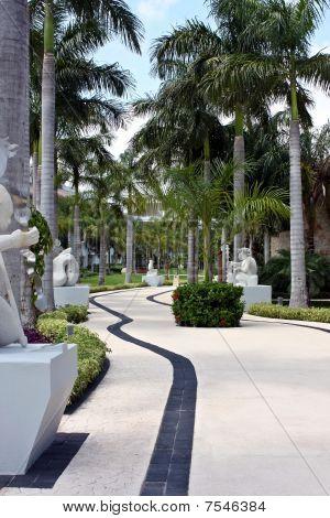 beautiful paved path