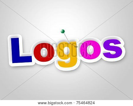 Logos Sign Represents Company Identity And Brand