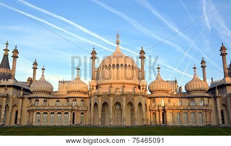 Early Morning Sunshine On The Royal Brighton Pavilion.