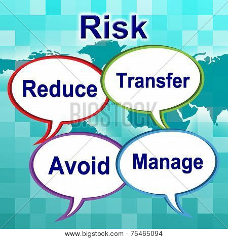 Risk Words Indicates Unstable Caution And Unsteady