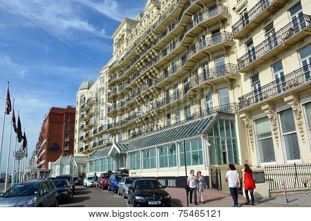 The Grand Hotel, Brighton, England, Uk.