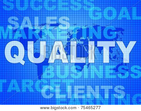 Quality Words Shows Guarantee Check And Approve
