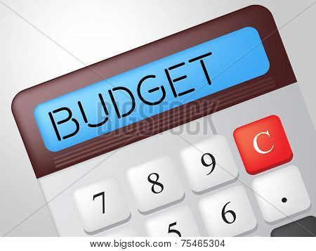 Budget Calculator Means Accounting Calculation And Buy