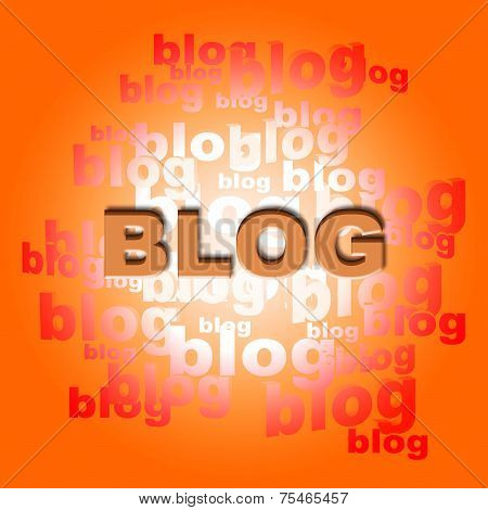 Blog Words Represents World Wide Web And Websites
