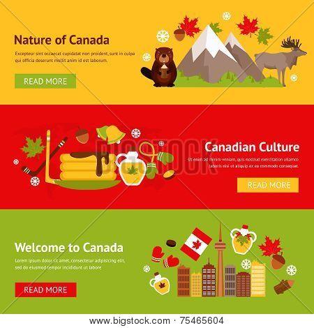 Canada banner set