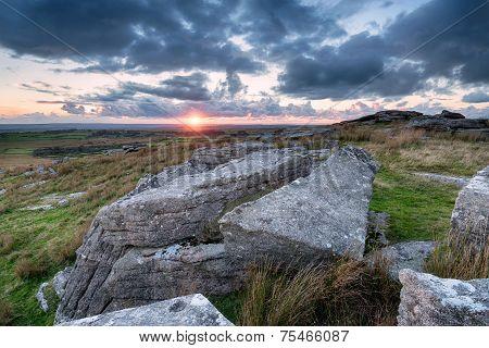 Sunset Over Bodmin Moor