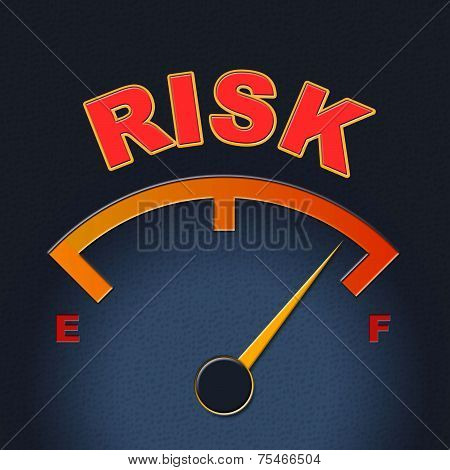 Risk Gauge Shows Display Caution And Failure