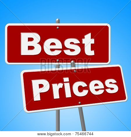 Best Prices Signs Represents Clearance Promotion And Promo