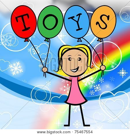 Toys Balloons Means Shopping Toddlers And Retail