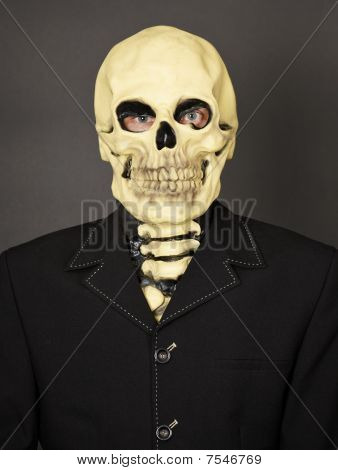 Portrait Of Man In Mask Of Death