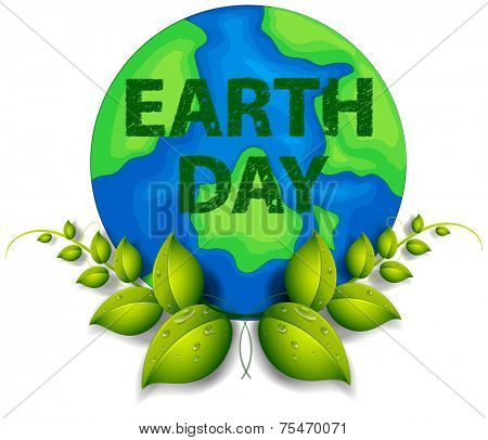 Earth day theme with text