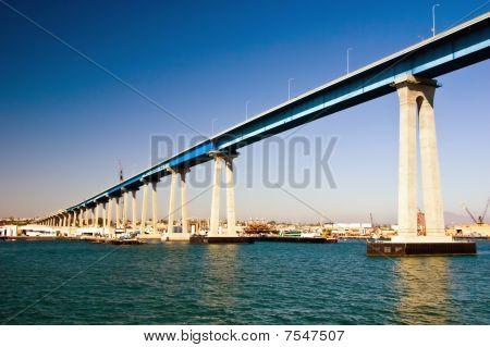 Tall Bridge Over The City Skyline
