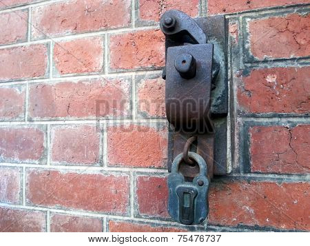 Red Brick Wall With Master Key