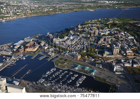 Aerial View Of Quebec City