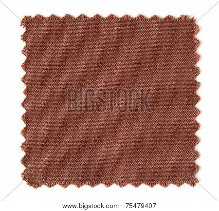 Fabric Swatch Samples Isolated On White Background