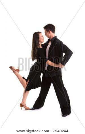 Ballroom Dancers Black