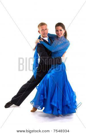 Ballroom Dancers Blue