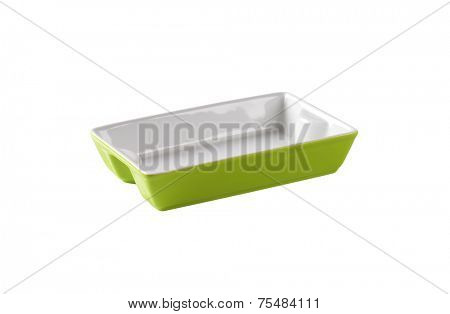 cutout of empty baking tray on white background