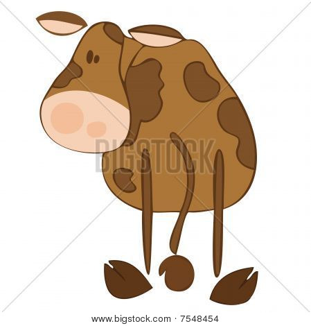 Dairy cow with funny expression.